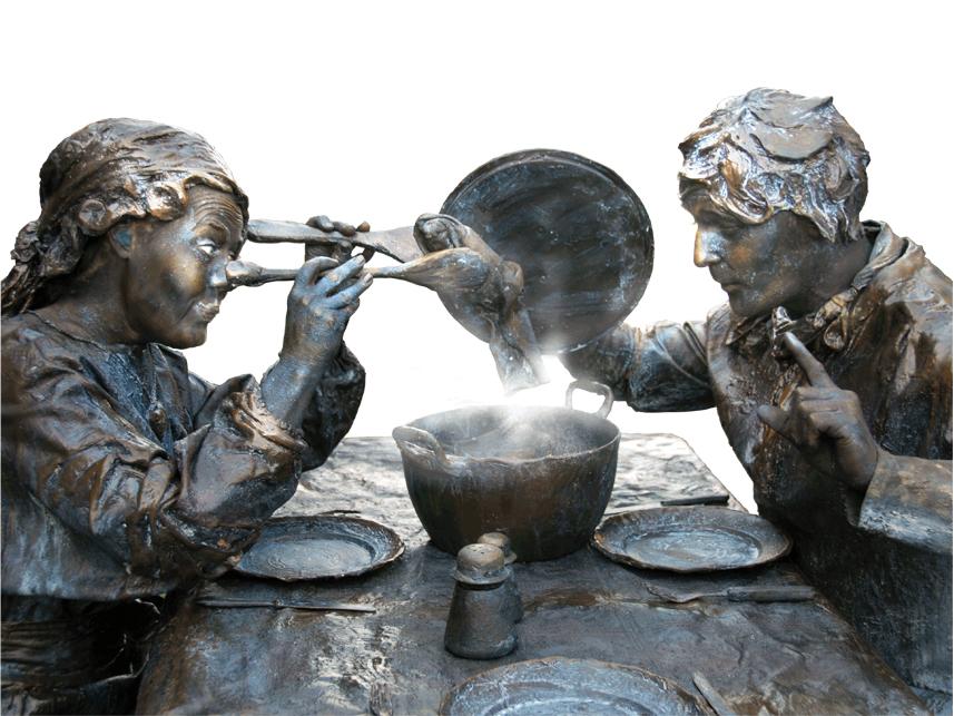 001 Wat Schaft de Pot - Potluck! - Living Statue - Levend Standbeeld 01