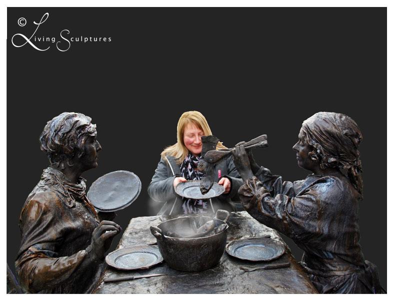 001 Wat Schaft de Pot - Potluck! - Living Statue - Levend Standbeeld 06