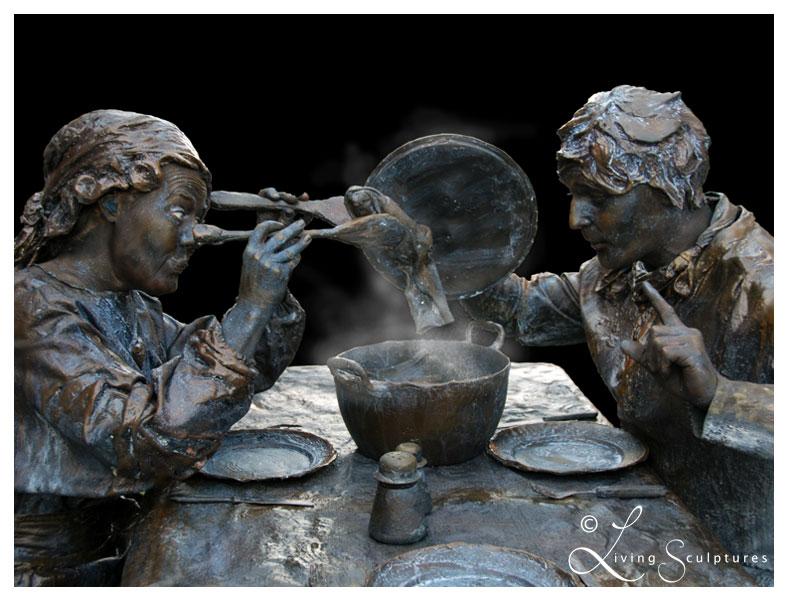 001 Wat Schaft de Pot - Potluck! - Living Statue - Levend Standbeeld 08