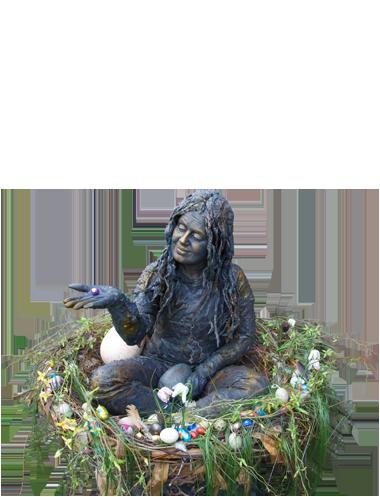 Levend Standbeeld - Living Statue Tip - Nest - Ei