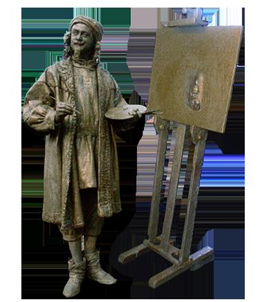 011 Rembrandt - Living Statue - Levend Standbeeld