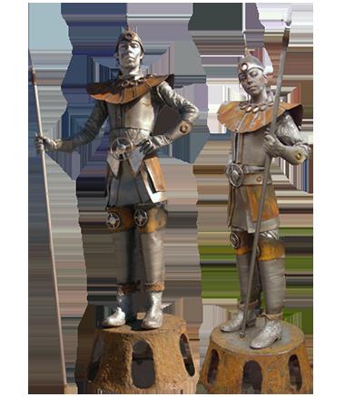 018 Staaltjes - Little Steel Man - Living Statue - Levend Standbeeld
