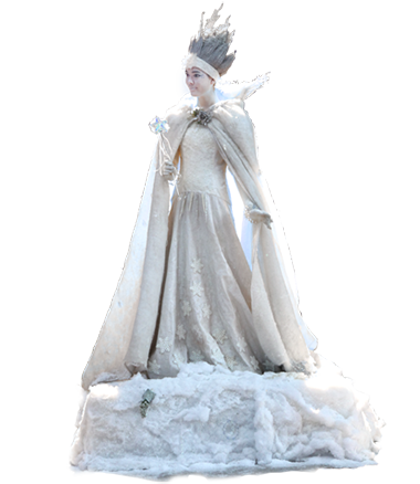 021 Winterkoningin - Winter Queen - Living Statue - Levend Standbeeld