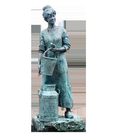 024 Melkboerin - Milk Maiden - Living Statue - Levend Standbeeld