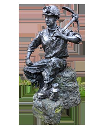 027 De Mijnwerker - Miner - Living Statue - Levend Standbeeld