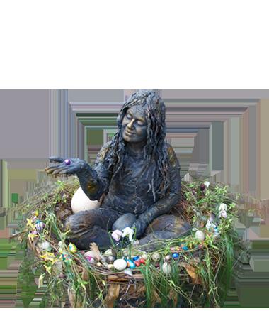 029 Nest-ei - Nest Egg - Living Statue - Levend Standbeeld