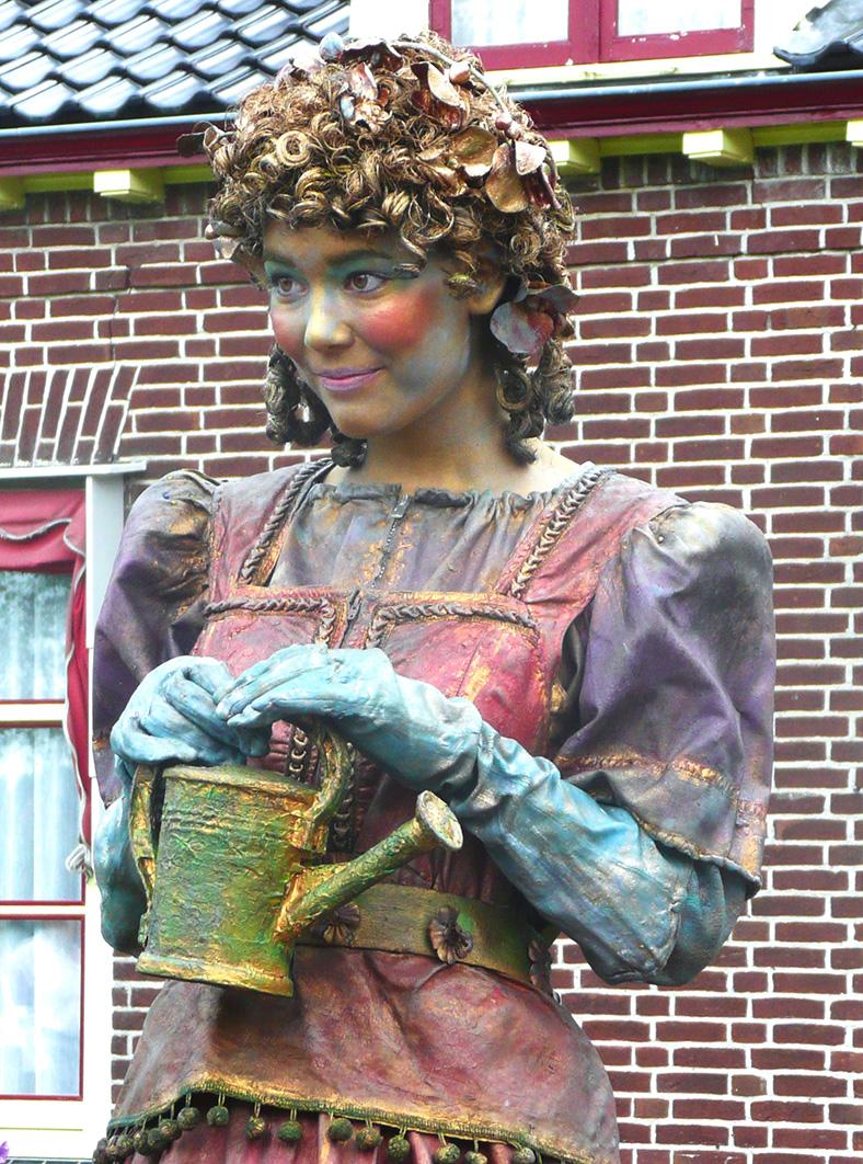 031 Lentemeisje - Spring-girl - Living Statue - Levend Standbeeld | 019 Animation - Animatie