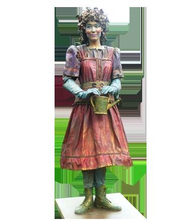 031 Lentemeisje - Spring-girl - Living Statue - Levend Standbeeld