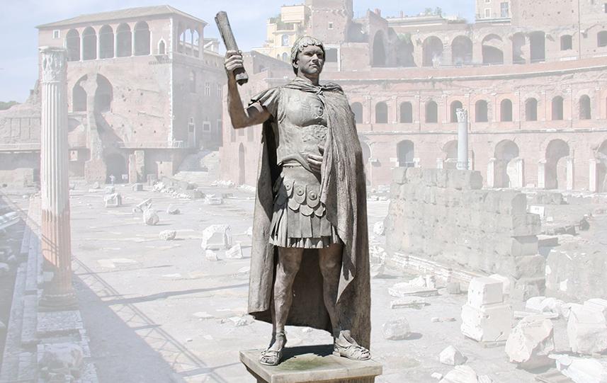 031 Romeinse keizer -Roman Emperor - Living Statue - Levend Standbeeld 01