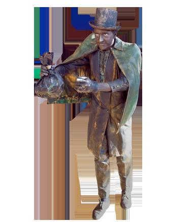034 De Koopman - The Merchant - Living Statue - Levend Standbeeld