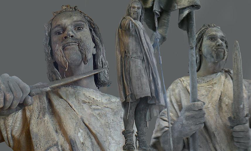 036 Batavier - Batavian - Living Statue - Levend Standbeeld 01