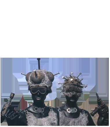 038 IJzeren Maagden - Iron Maidens - Living Statue - Levend Standbeeld