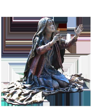 039 Meisje Met De Zwavelstokjes - The Little Match Girl - Living Statue - Levend Standbeeld