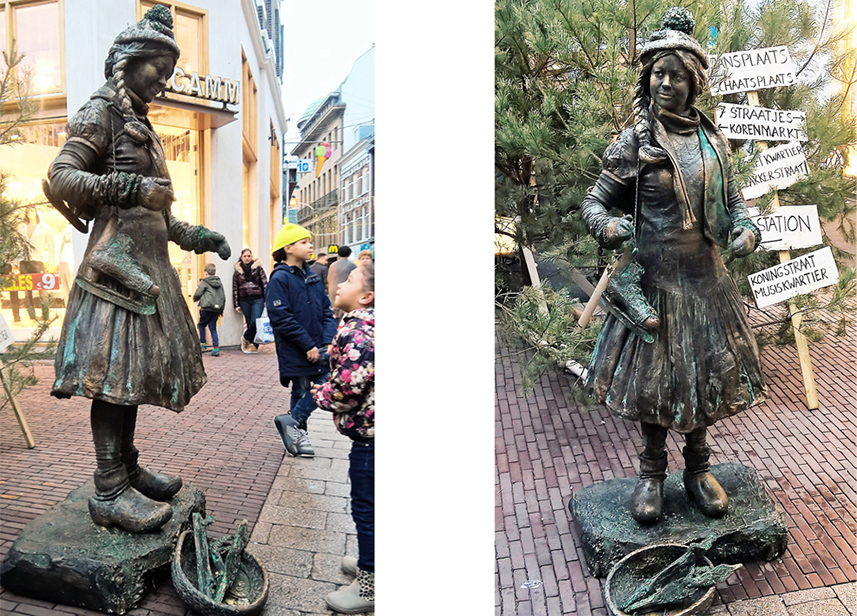 040 Boerinnetje Gaat Schaatsen - Going For Ice Skating - Living Statue - Levend Standbeeld 01