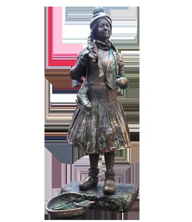 040 Boerinnetje Gaat Schaatsen - Going For Ice Skating - Living Statue - Levend Standbeeld