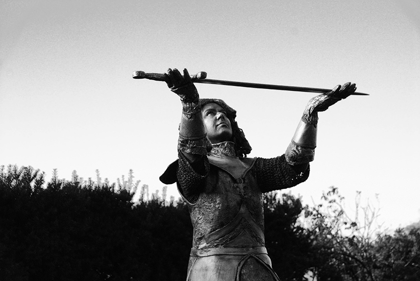 041 Jeanne D'Arc - Living Statue - Levend Standbeeld 01