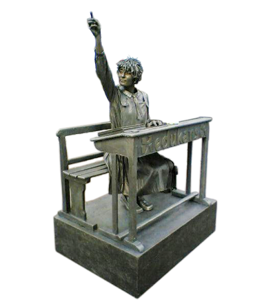 043 Het Schoolmeisje - Schoolgirl - Living Statue - Levend Standbeeld
