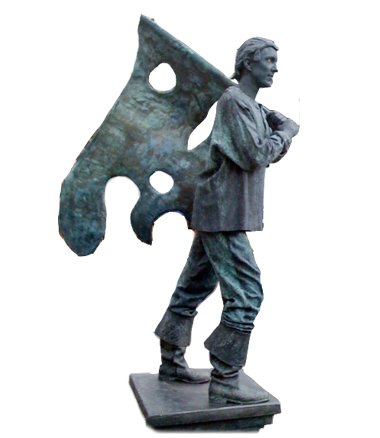 045 Verzetsstrijder - Resistance Fighter - Living Statue - Levend Standbeeld