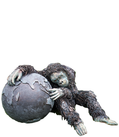 046 Aap - Ape - Living Statue - Levend Standbeeld