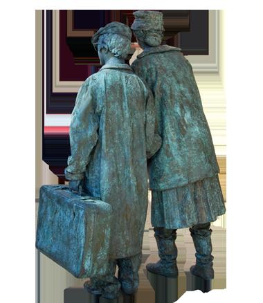 054 Jansen en de Vries - Miss Jansen and Mr. de Vries - Living Statue - Levend Standbeeld