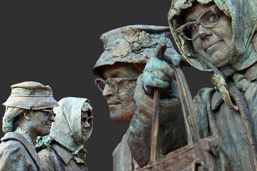 054 Jansen en de Vries - Ms Jansen and Mr de Vries - Living Statue - Levend Standbeeld 01