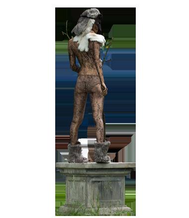 057 De Wildvrouw - Wild Lace - Living Statue - Levend Standbeeld