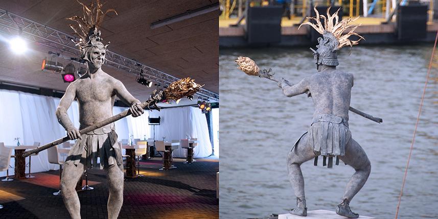 063 Element Vuur - Element Fire - Living Statue - Levend Standbeeld 01