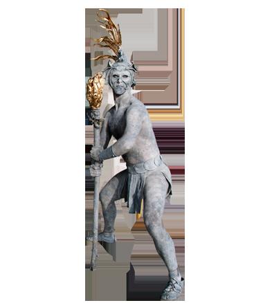 063 Element Vuur - Element Fire - Living Statue - Levend Standbeeld