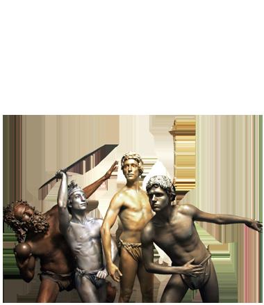 067 Olympische Beelden - Olympic Statues - Living Statue - Levend Standbeeld