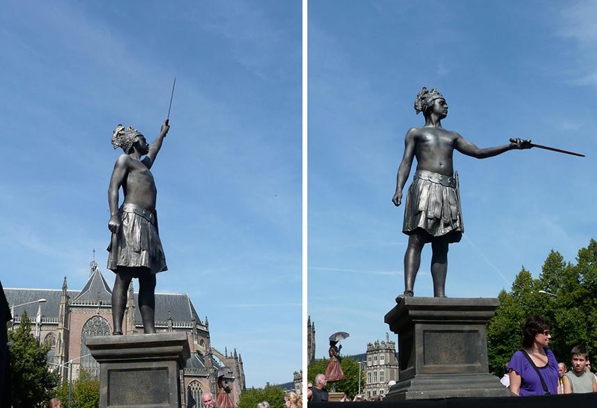 077 Strijder - The Warrior - Living Statue - Levend Standbeeld 01