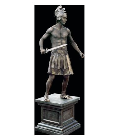 077 Strijder - The Warrior - Living Statue - Levend Standbeeld