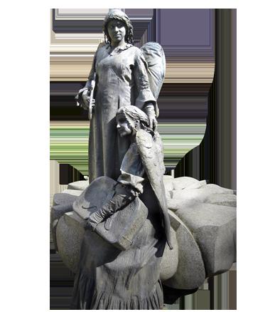 078 Gevallen Engelen - Fallen Angels - Living Statue - Levend Standbeeld