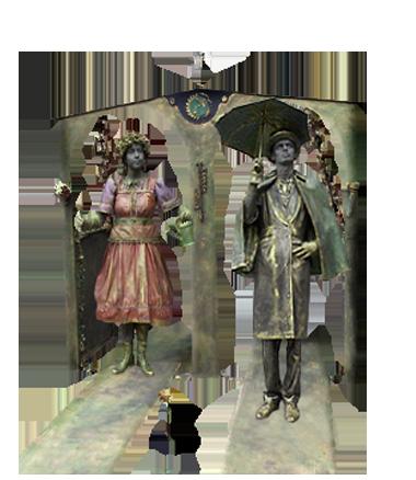 080 Het Weerhuisje - The Weather House - Living Statue - Levend Standbeeld