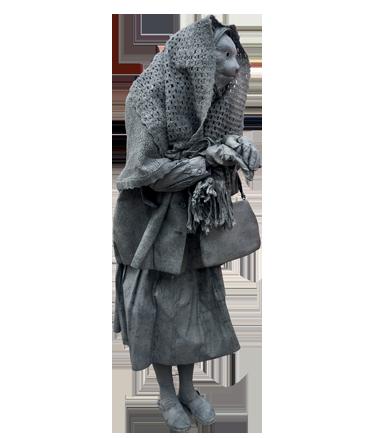 081 Poezenvrouwtje - Cat Lady - Living Statue - Levend Standbeeld