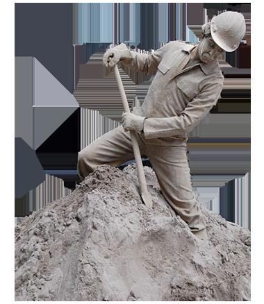 085 Zandwerkers - Sandy Workmen - Living Statue - Levend Standbeeld