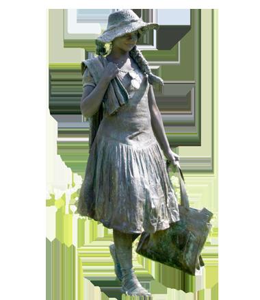 087 Naar Het Strand - To The Beach - Living Statue - Levend Standbeeld