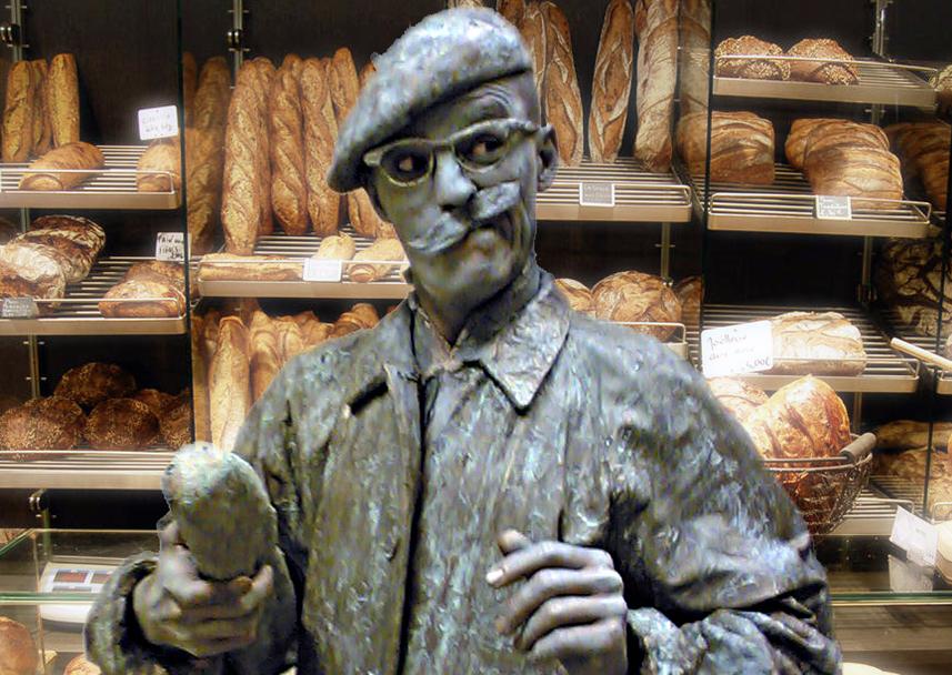 089 Monsieur Baguette - Living Statue - Levend Standbeeld 01