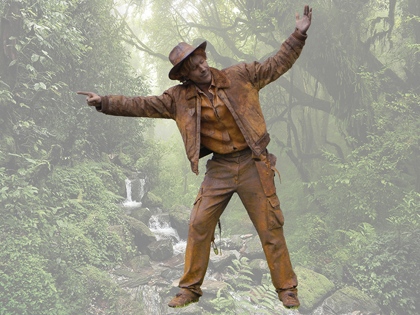 091 Indiana Jones - Living Statue - Levend Standbeeld 01