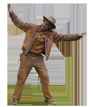 091 Indiana Jones - Living Statue - Levend Standbeeld