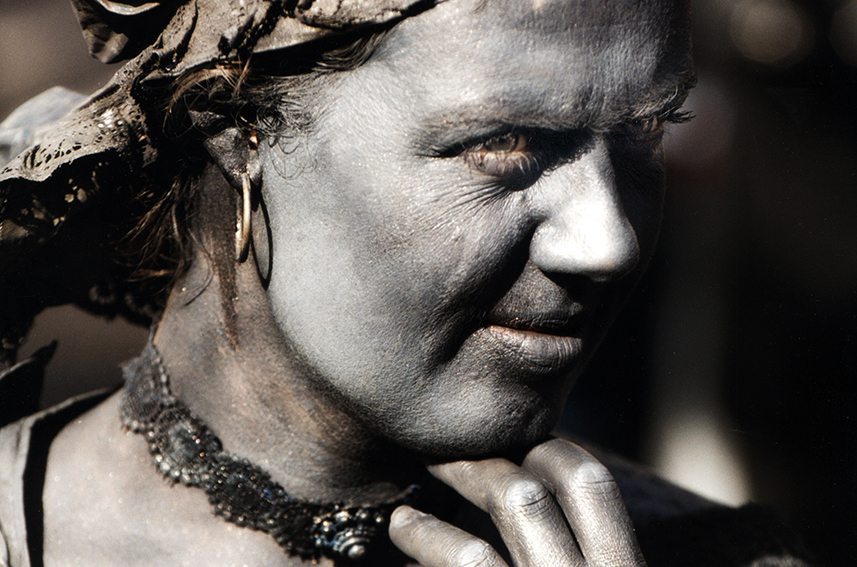 094 Bloemendame - Flower Lady - Living Statue - Levend Standbeeld 01