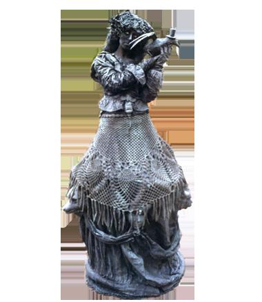 096 Estella En De Raaf - Estalla With Ravens - Living Statue - Levend Standbeeld
