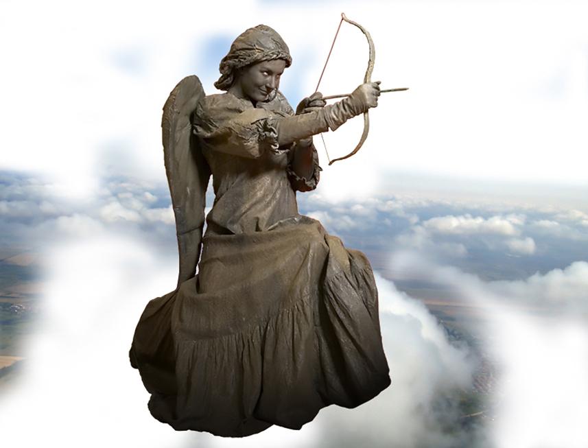 097 Cupido - Cupid - Living Statue - Levend Standbeeld 01