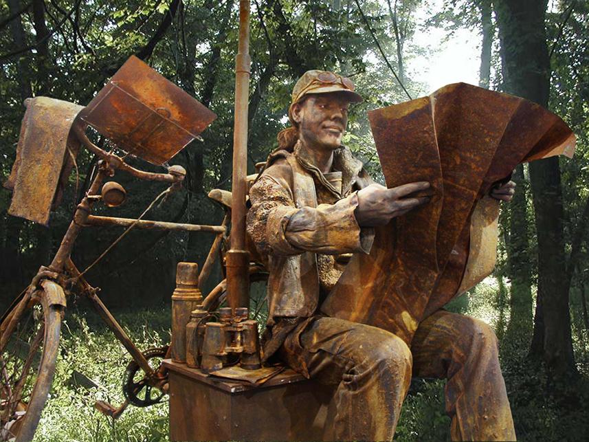 099 Toerist - Tourist - Living Statue - Levend Standbeeld 01