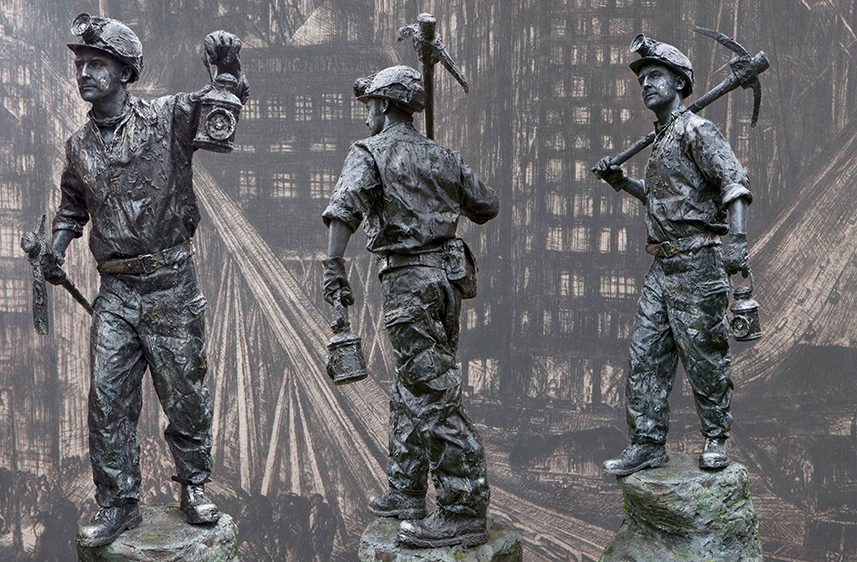 Beeldtheater Living Sculptures 027 De Mijnwerker - Miner 01