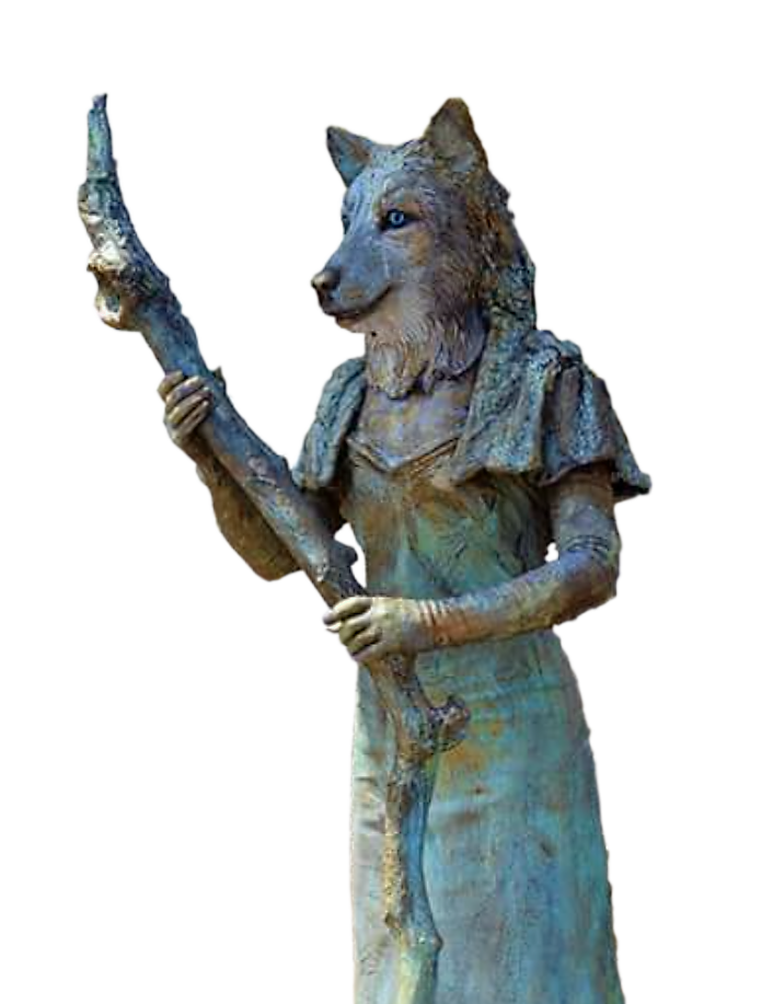 Wolvin Levend standbeeld act van Living Sculptures
