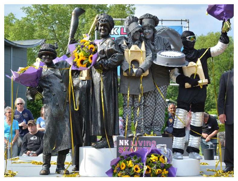 Gewonnen prijzen NK Living Statues