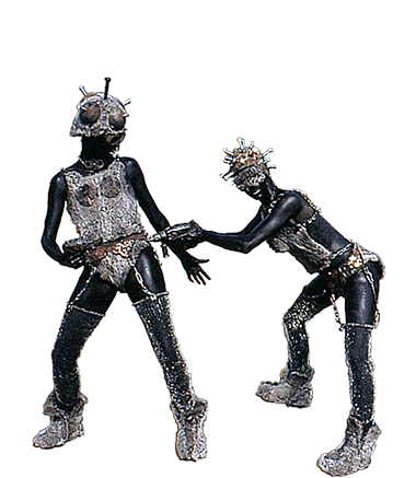 009 Animatie IJzeren Maagden - Animation Iron Maiden - Living Statue - Levend Standbeeld 00