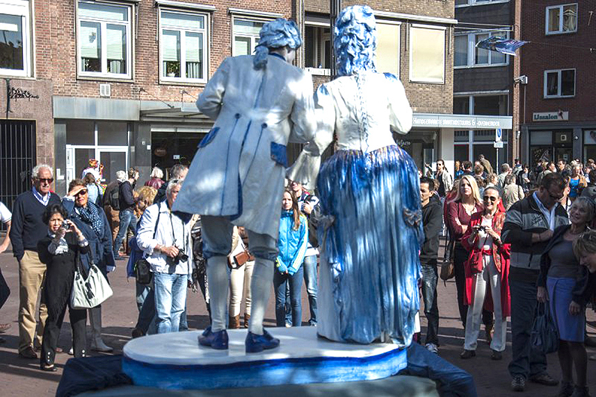 010 Animatie Duo Kitsch - Animation Duo Kitsch - Living Statue - Levend Standbeeld 00