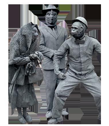 016 Animatie Granietdieren - Animation Granite Animals - Living Statue - Levend Standbeeld
